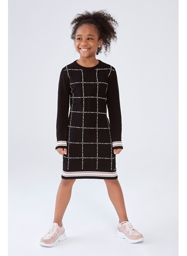 Guess Kız Çocuk Siyah Elbise 20Fwgj0Yk25 Siyah